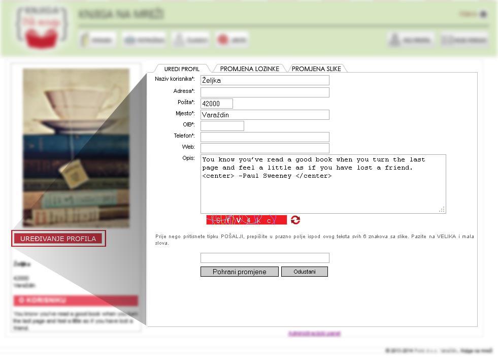 Tekst profila web mjesta
